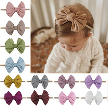 Bow Headband Hair-Accessories Knot Nylon Elastic Toddler Newborn Baby-Girls Fashion