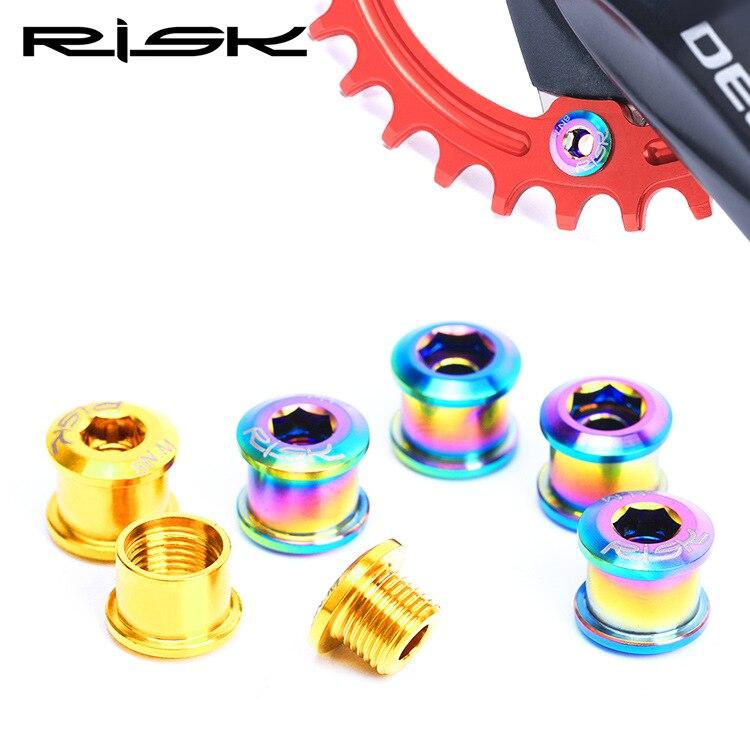 Risk Mountain Small Wheel Bicycle TC4 Titanium Alloy Single Plate Nail XT Crankset 6.5 Mm Side Lock Fixing Screws