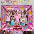 Фоторамка с днем рождения, воздушные шары из фольги, реквизит для фотосъемки, украшения для дня рождения, Детские шары для взрослых, для мале...