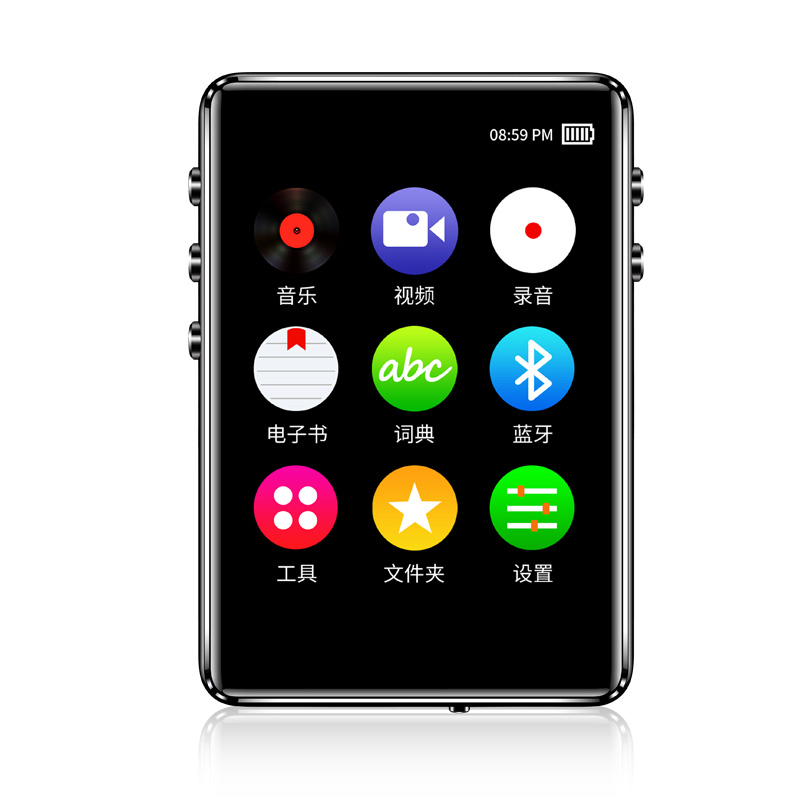 16G 2.4inch TFT Screen MP3 Player FM E-Book Touch Button HiFi Lossless Music Voice Reading Bluetooth 5.0 Dictionary