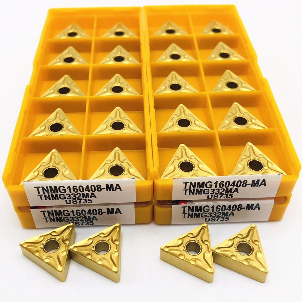 10PCS TNMG160408-MA TNMG332 MA US735 CNC blade lathe turning carbide inserts