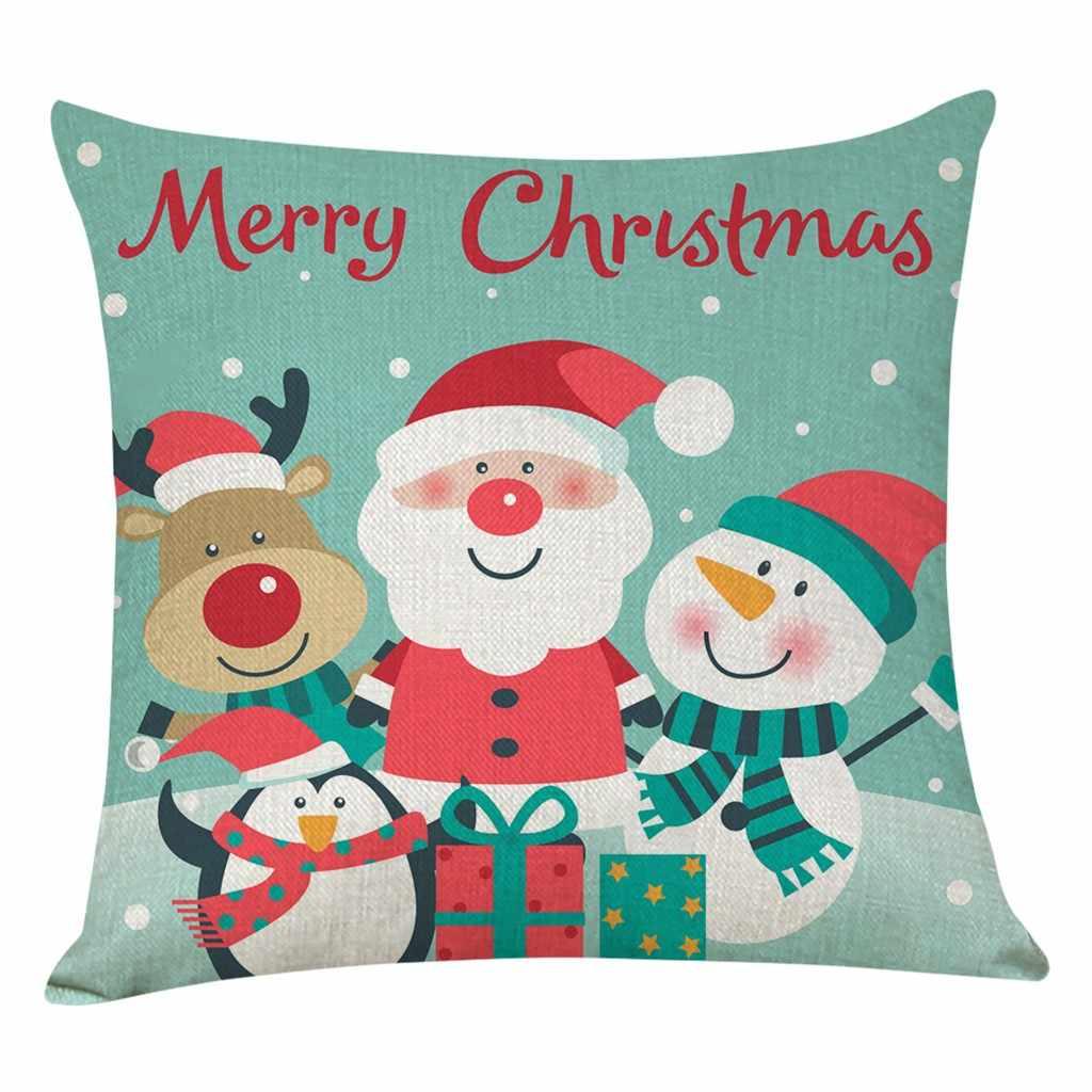 Boże narodzenie poszewka s dla domu dekoracje sofa poszewka wesołych świąt bożego narodzenia poszewka na poduszkę Sofa talia rzuć poszewki na poduszki