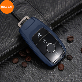 Car Key Case Cover Fob Bag Shell Protector Suitable For Mercedes Benz A B G S E C Class W205 W213 C217 W177 W247 C257 W167 W463