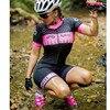 20-kafitt-9d-gel almofada ciclismo mulher triathlon ciclismo camisa de uma peça vestido pequeno macaco manga curta terno competição 2