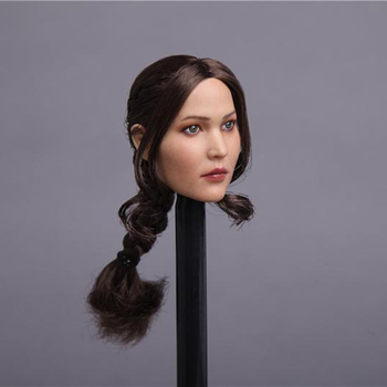 цена на 1/6 Scale Female Figure Accessory Jennifer Lawrence Compiled Hair Head Sculpt Model GC003 for 12 inches Action Figure Body