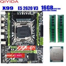 X99 האם עם XEON E5 2620 V3 2*8G DDR4 2400Mhz REGECC זיכרון משולבת ערכת סט NVME USB3.0 MATX שרת דומה huanan