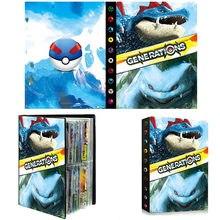 Album de cartes Pokemon, livre de cartes de jeu dessin animé Mewtwo/Pikachu/feralgatr, Collection de 240 pièces, dossier de jouets, cadeau