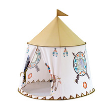 LazyChild Kid Tent House Portable Princess Castle Present Hang Flag Children Teepee Tent Play Tent Birthday Christmas Gift cheap LISM Polyester CN(Origin) Please keep the kids tent far away from fire 5-7 Years 3 years old 13-24 Months 2-4 Years