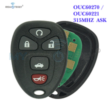 цена на Remtekey Remote fob for GM 5 button 315mhz OUC60270 For Buick Lucerne Cadillac DTS Chevrolet Impala