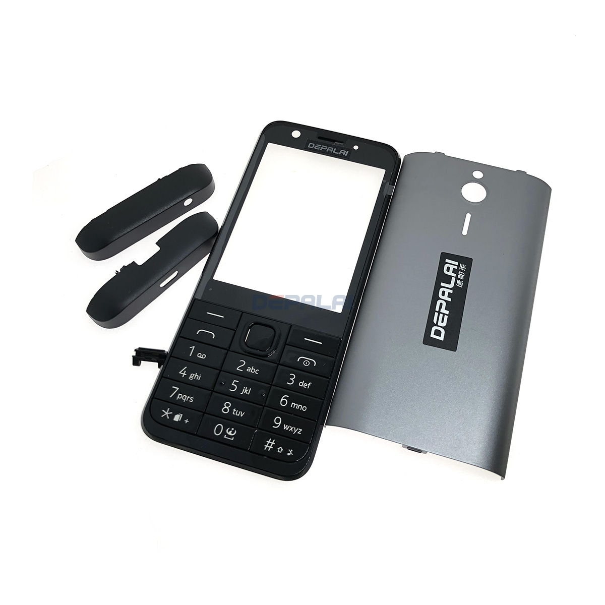 Front Middle Frame Back cover Battery Cover For <font><b>Nokia</b></font> <font><b>230</b></font> Full Housing Cover Case With English Keypad image
