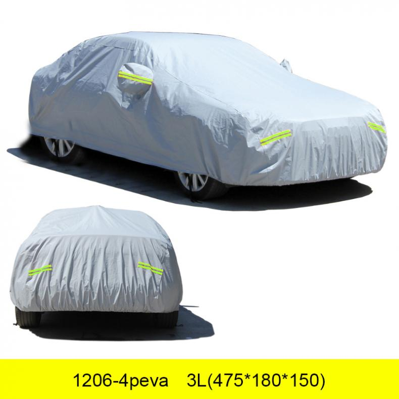 3L Universal No Door Velvet UV/Rain/Snow Protector Dustproof Car Clothing Covers With Anti-theft Lock/Reflective Article/Hook