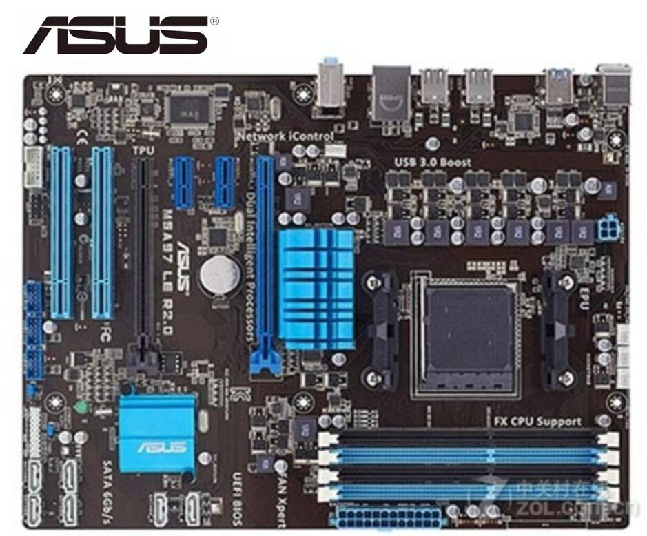 ASUS M5A97 LE R2.0 Original Motherboard  Socket AM3+DDR3 USB2.0 USB3.0 32GB 970 Used Desktop Motherboard PC