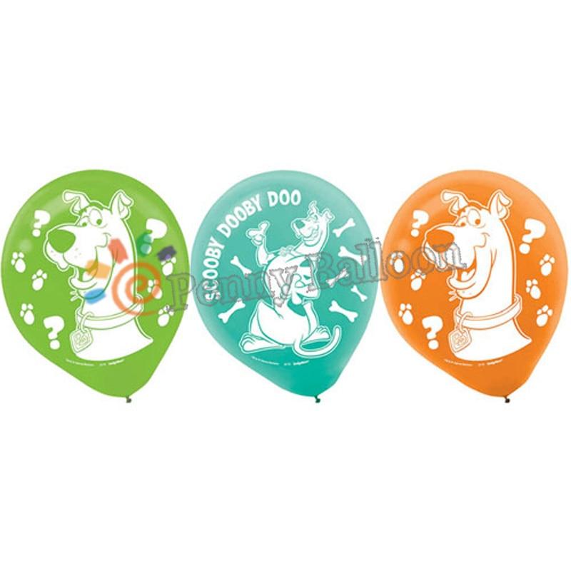 12 шт. Скуби-воздушный шар декорации с днем рождения воздушный шар Globos игрушки для детей