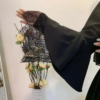 Eid Mubarek Kaftan Abaya Dubai Kimono Cardigan Hijab Muslim Dress Islam Clothing Abayas For Women