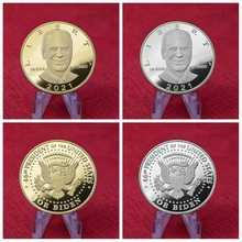 2021 joe biden presidente lembrança comemorativa moeda desafio moedas colecionáveis