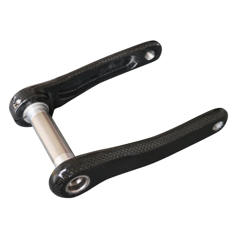 Spor ve Eğlence'ten Gidon Bandı'de Dağ bisikleti 3K tam karbon fiber krank yol ile bisiklet krank alaşımlı alt braket eksen 170Mm Mtb title=