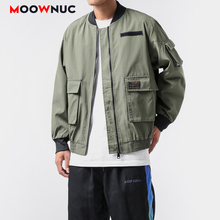 Hip Hop Jackets Kpop Fashion Hombre Coats Outerwear New Loose Solid Men's Clothes Spring Dress Boys Casual MOOWNUC MWC