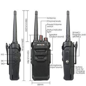 Image 2 - RETEVIS Walkie Talkie impermeable RT48/RT648 IP67 Radio PMR flotante PMR446/FRS VOX con carga USB, Radio bidireccional para Baofeng UV 9R
