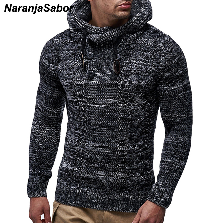 NaranjaSabor New Men's Hoodie 2020 Winter Men Warm Hooded Knitted Fashion Pullovers Sweatshirt Male Casual Brand Clothing N632 2