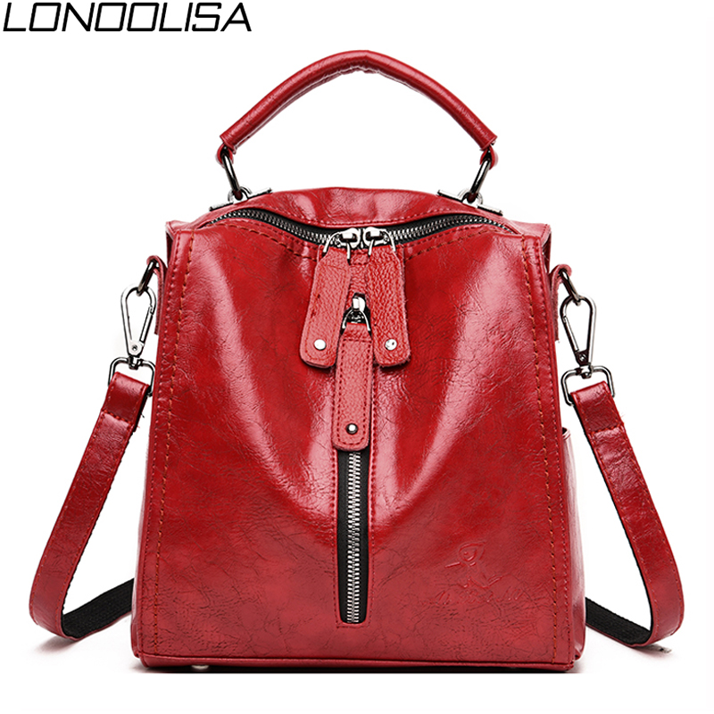 New 3 In 1 Women Soft Leather Backpack Trend Bags For Teenage Girls Daily Travel Small Backpack Female Bagpack Mochila Feminina