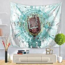 Duvar asılı müzik notu goblen yatak örtüsü ev dekor hippi sanat arka plan dekoratif Mandala masa örtüsü sac Mat plaj havlusu