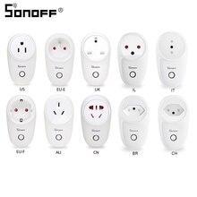 Умная розетка Sonoff S26 с Wi Fi, базовая Беспроводная вилка стандарта AU/CN/EU/UK/US, выключатель для умного дома, розетки питания, работает с Alexa Google Assistant