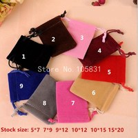 100x Custom Logo Printed Drawstring Mobile Phone Bag Gift Jewelry Packaging Bag Square Velvet Cloth Cell Phone Pouch