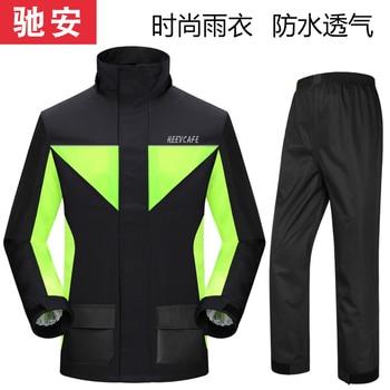 Waterproof Travel Pants Raincoat Jacket Set Motorcycle Plastic Raincoat Men Survival Chubasquero Hombre Outdoor Rain JJ60YY