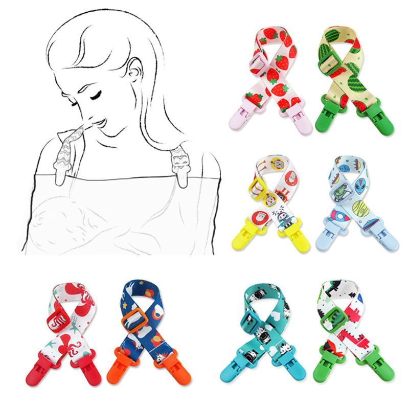 Baby Bib Strap Adjustable Napkin Clip Neck Strap For Baby Adult Travel Home Dinner Accessories Colorful Easy Clean Safety
