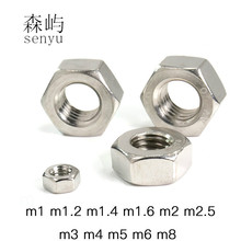 LUHUICHANG  m1 m1.2 m1.4 m1.6 m2 m2.5 m3 m4 m5 m6 or m8 (20pcs) Stainless Steel Metric Thread Hex Nut Hexagon Nuts Metric Nut metric thread din934 m2 m2 5 m3 m4 m5 m6 m8 m10 m12 black grade 8 8 carbon steel hex nut hexagon nut screw nut a2 brand new