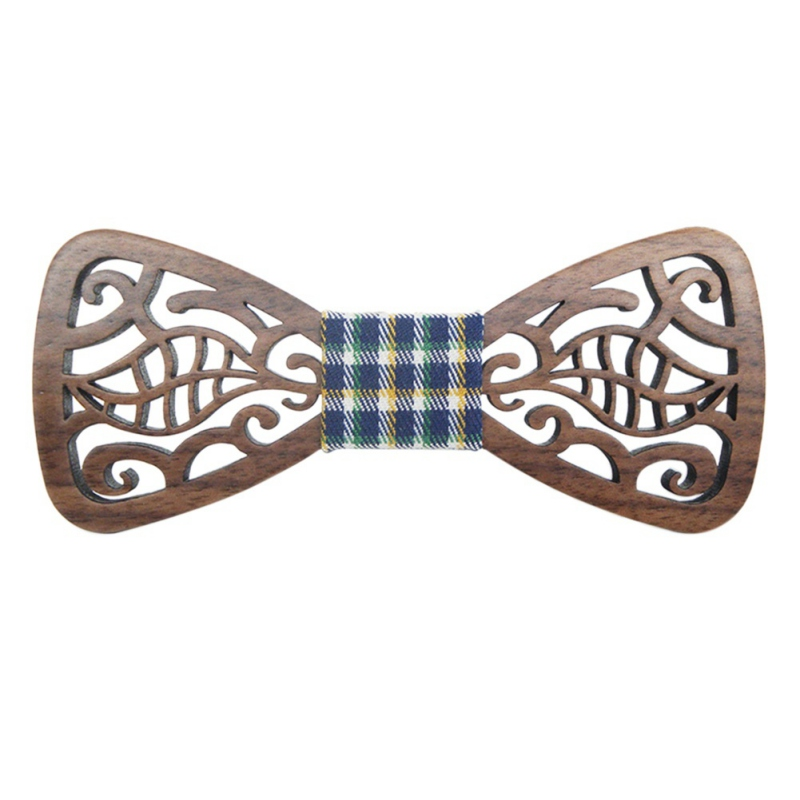 Wooden Fashion Hollow Wood Bow Ties For Men Wedding Suits Bow Tie Butterfly Shape Bowknots Gravatas Slim Cravat