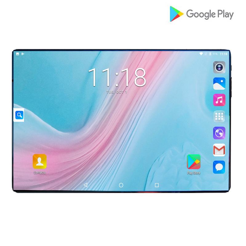 2020 Orignal 10 Inch Tablets PC Android 9.0 OS 128GB ROM 6GB RAM 6000mAh Battery WiFi GPS Dual Sim 4G LTE Tablets 10.1 +Gifts