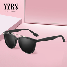 YZRS Brand Polarized Sunglasses Men Women Driver Rivet Retro Plastic Male Sun Glasses Double Bridge Shades