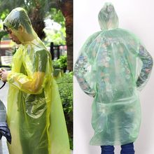 Disposable Raincoat Adult Emergency Waterproof Hood Poncho Travel Camping Must Rain Coat Unisex(China)