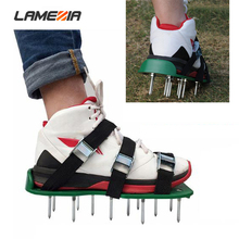 Three Shoelaces Gardening Scarification Shoes Season Garden Art Lawn Tools Grassland Turquoise Fitness Nail Shoes