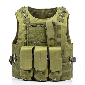 USMC Airsoft Military Tactical Vest Molle Combat Assault Plate Carrier Tactical Vest 7 Colors CS Outdoor Clothing Hunting Vest 9
