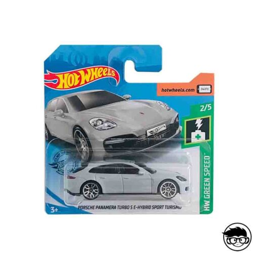 Hot Wheels Porsche Panamera  Turbo S E-Hybrid Sport Turismo HW Green Speed 202/250 2019 Short Card