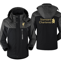 Mo Salah Never Give Up Liverpool Winter parka men plus velvet warm windproof coats mens hooded jackets men's outwear overcoat
