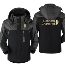 Mo Salah Never Give Up Liverpool Winter parka men plus velvet warm windproof coats mens hooded