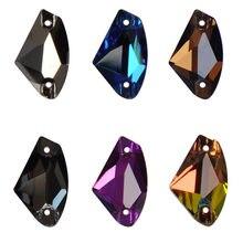 Galactic Glass Strass wiele kolorów dżetów szyć na Rhinestone szklane kryształki z płaskim tyłem стразы szycie kryształów na ubranie