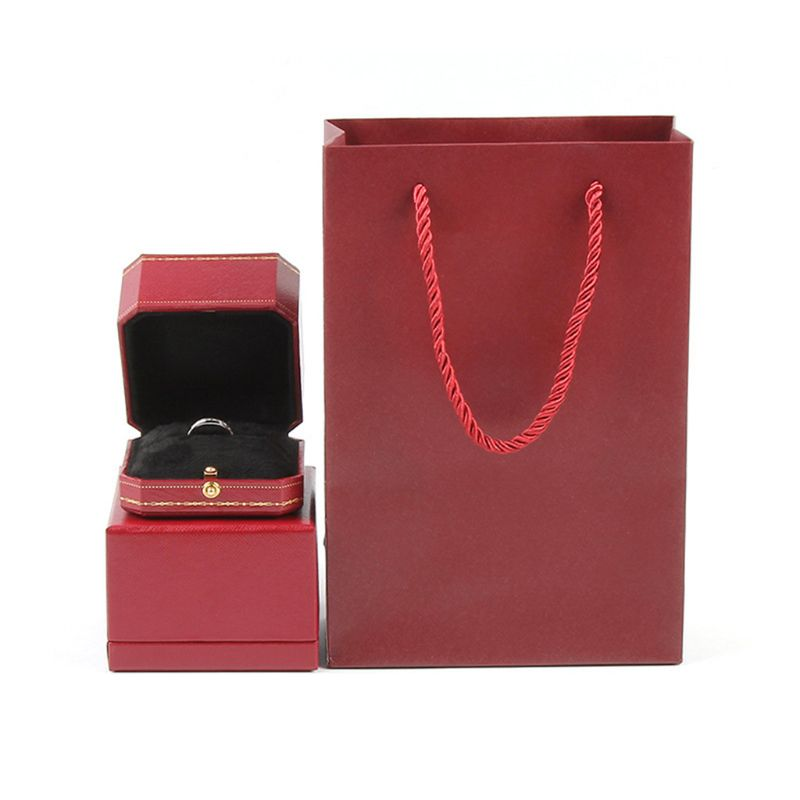 Vintage Design Luxury Ring Box Perfect Engagement Prop Valentine Wedding Gifts Storage Box
