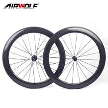 Airwolf 2021 Nieuwe Carbon Wiel 700C Clincher Carbon Racefiets Wielset Velg Brack Ruedas Bicicleta Speed Fietsen Fiets Wielen
