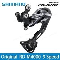 Shimano Alivio RD M4000 9 Speed Mountain Bike Rear Derailleur 27 Speed Black Road Bike Update M430 M610