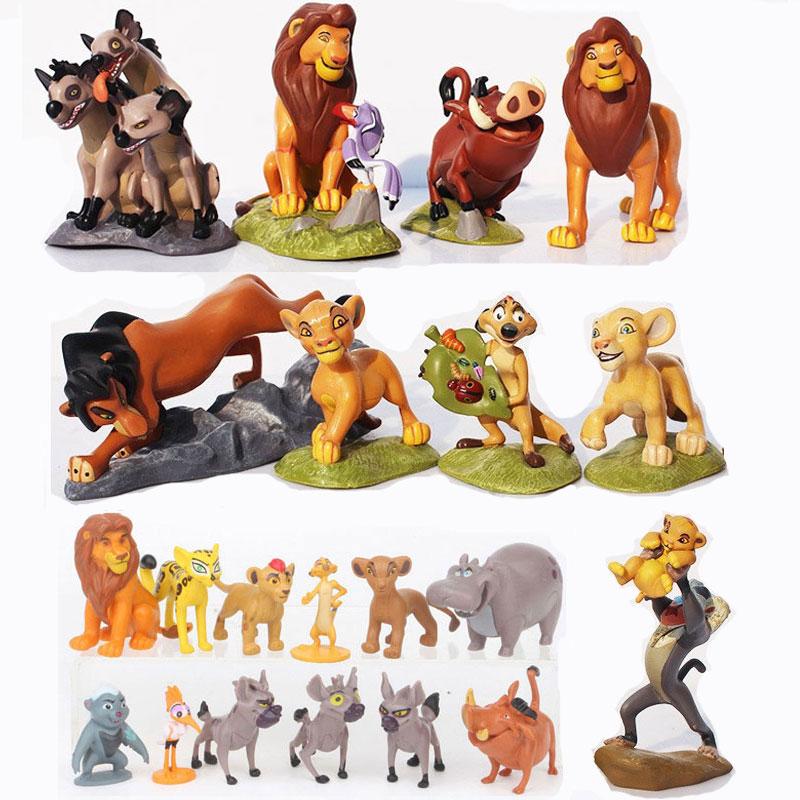 9-12pcs Cartoon The Lion Guard PVC Action Figures Bunga Beshte Fuli Ono The Lion Nala Timon Pumbaa Sarabi Sarafina Doll Toys