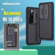 Para xiaomi mi 10 ultra caso embalagem nillkin slide câmera proteção lente proteger privacidade à prova de choque capa no mi10 ultra coque