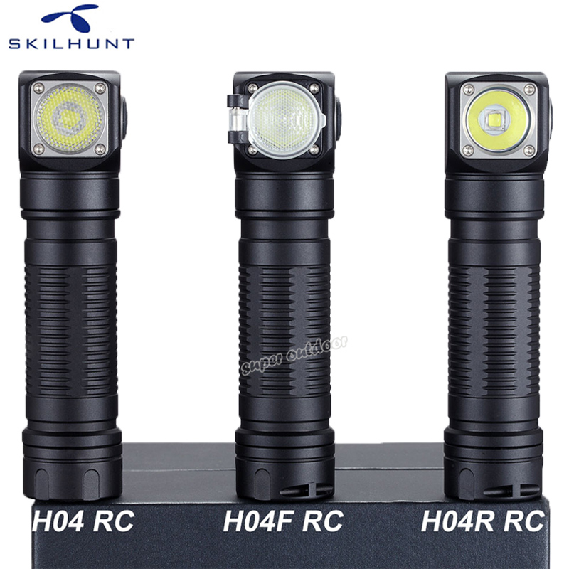 Skilhunt H04 H04R H04F RC 1200 lumen Two Customized UI USB Magnetic Rechargeable LED flashlight Hunting Camping + Headband 2