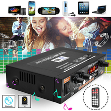 2021 1PC G30 800W Mini HIFI Digital Bluetooth amplificador de potencia de Audio Control remoto/US Plug para TF tarjeta/AUX/U disco/MP3