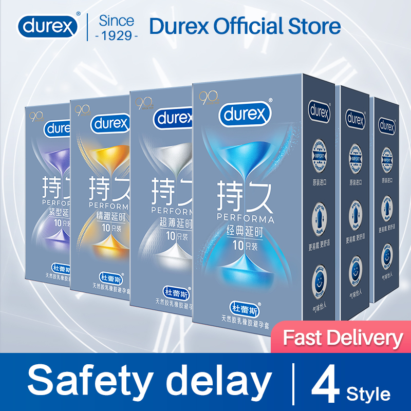 Durex uzun ömürlü için Performa Climax güvenli gecikme uzun ömürlü Climax Control yağlayıcı prezervatif samimi ürünler seks ürünleri
