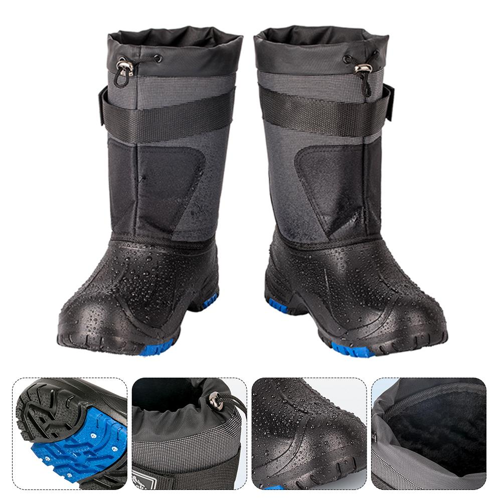 Outdoor Winter Snow Fishing Boots Waders Hunting Boot Fishing Snow Waterproof Shoes Non-slip with Steel Nails Camping Boots