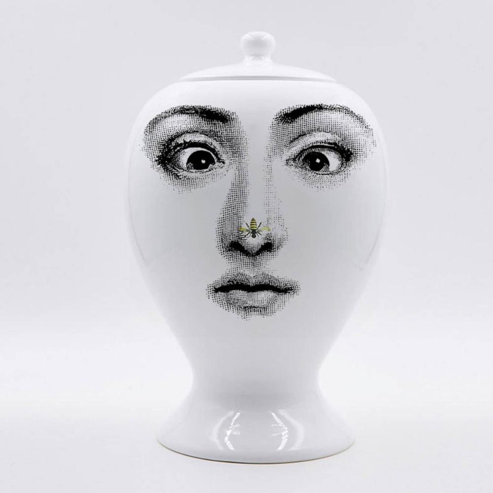 Fornasetti bonbons pot fleur vase maison décoration conteneur maison stockage décoratif en céramique vase cuisine accessoires cadeau